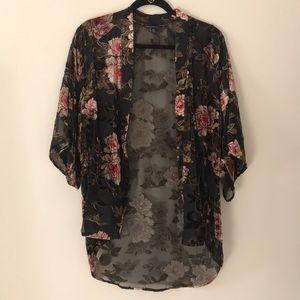 American Eagle Velvet Sheer Kimono style top